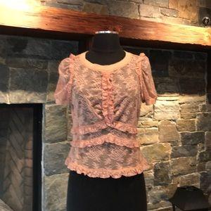 Louis Vuitton lace blouse SZ L